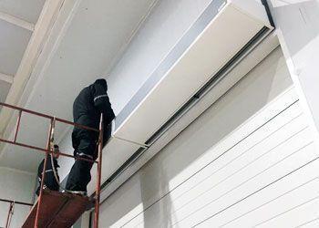instalación cortina de aire