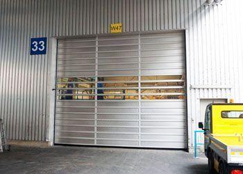 instalación puerta espiral