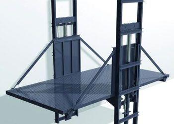 plataforma industrial de dos columnas