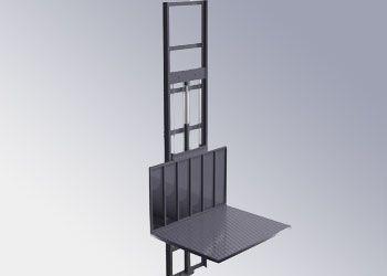 plataforma industrial de 1 columna