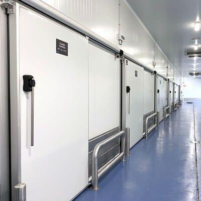 puerta corredera frigorífica comercial