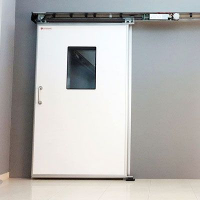 puerta para quirófanos