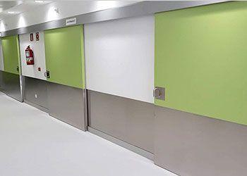 puerta corrediza hospital y clínicas
