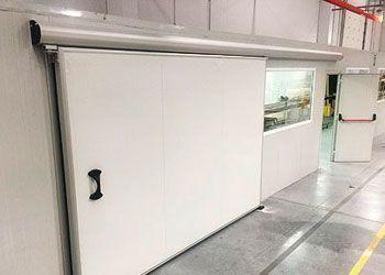 puerta corredera de servicio industrial