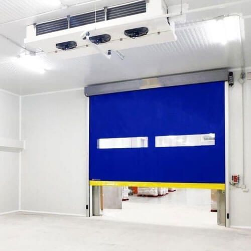 puerta de rollo rápido frigorífica