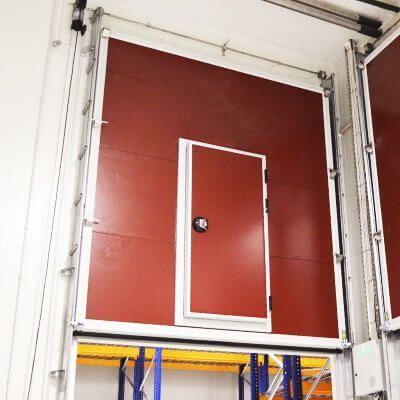 puerta guillotina frigorífica