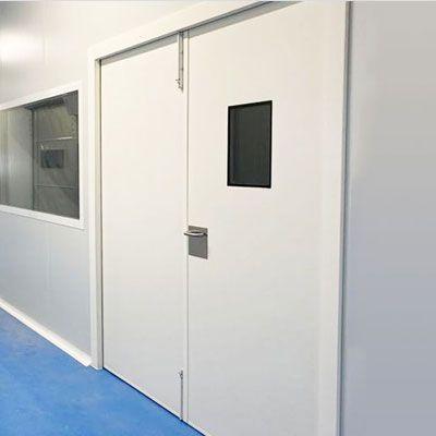 puerta sala blanca hospitalaria