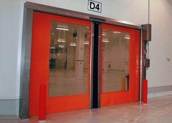 puerta de rollo rápido con apertura horizontal