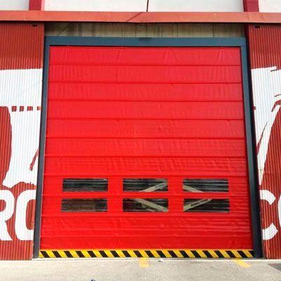 puerta rápida plegable PVC