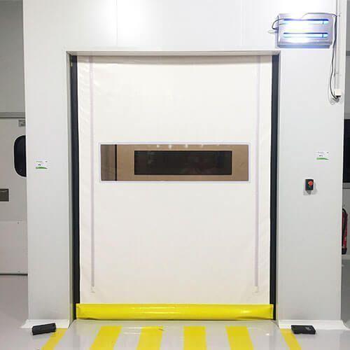 puerta rápida sala blanca