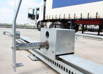 retenedor trailers andén de carga